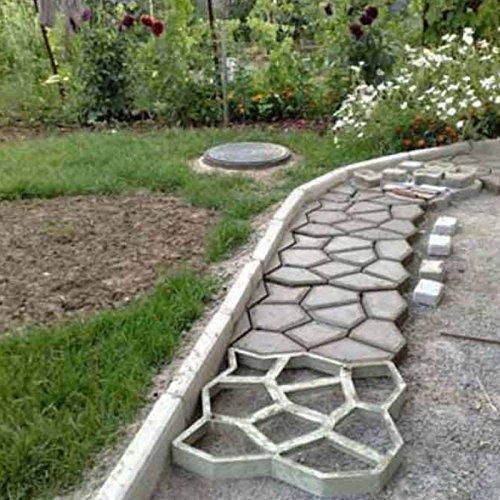 Techinal DIY Garden Walk Mold, Garden Walk Maker Driveway Paving Brick Patio Concrete Slabs Path, Decorative Stones Molds (Style-01)