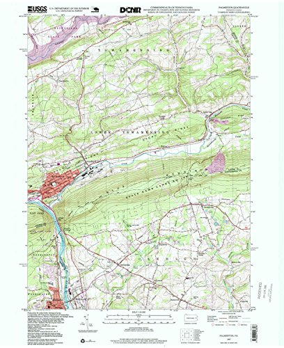 YellowMaps Palmerton PA topo map, 1:24000 Scale, 7.5 X 7.5 Minute, Historical, 1997, Updated 1999, 26.8 x 21.9 in - Paper