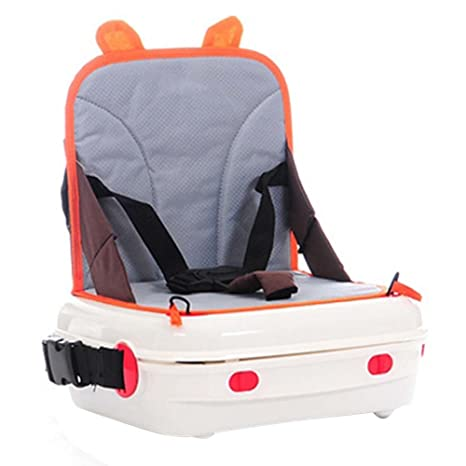 M&A Silla Trona Bebé Plegable Portátil Asiento Elevador Maleta Infantil Silla Alta para Bebés Niños