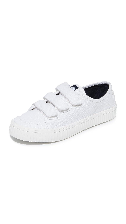 Sperry Women's Crest Velcro Creeper Sneakers B01N2VRT3A 8.5 B(M) US|White