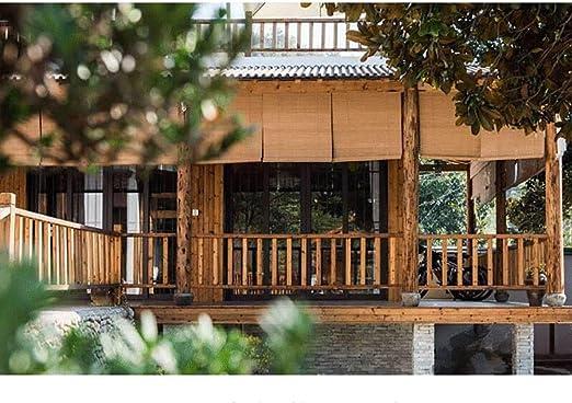 Persianas Enrollable para Patio con Protector Solar, Cortinas De Privacidad para Cortinas De Bambú Al Aire Libre, 85 Cm / 105 Cm / 135 Cm / 145 Cm De Ancho (Size : 85cm×100cm): Amazon.es: Hogar