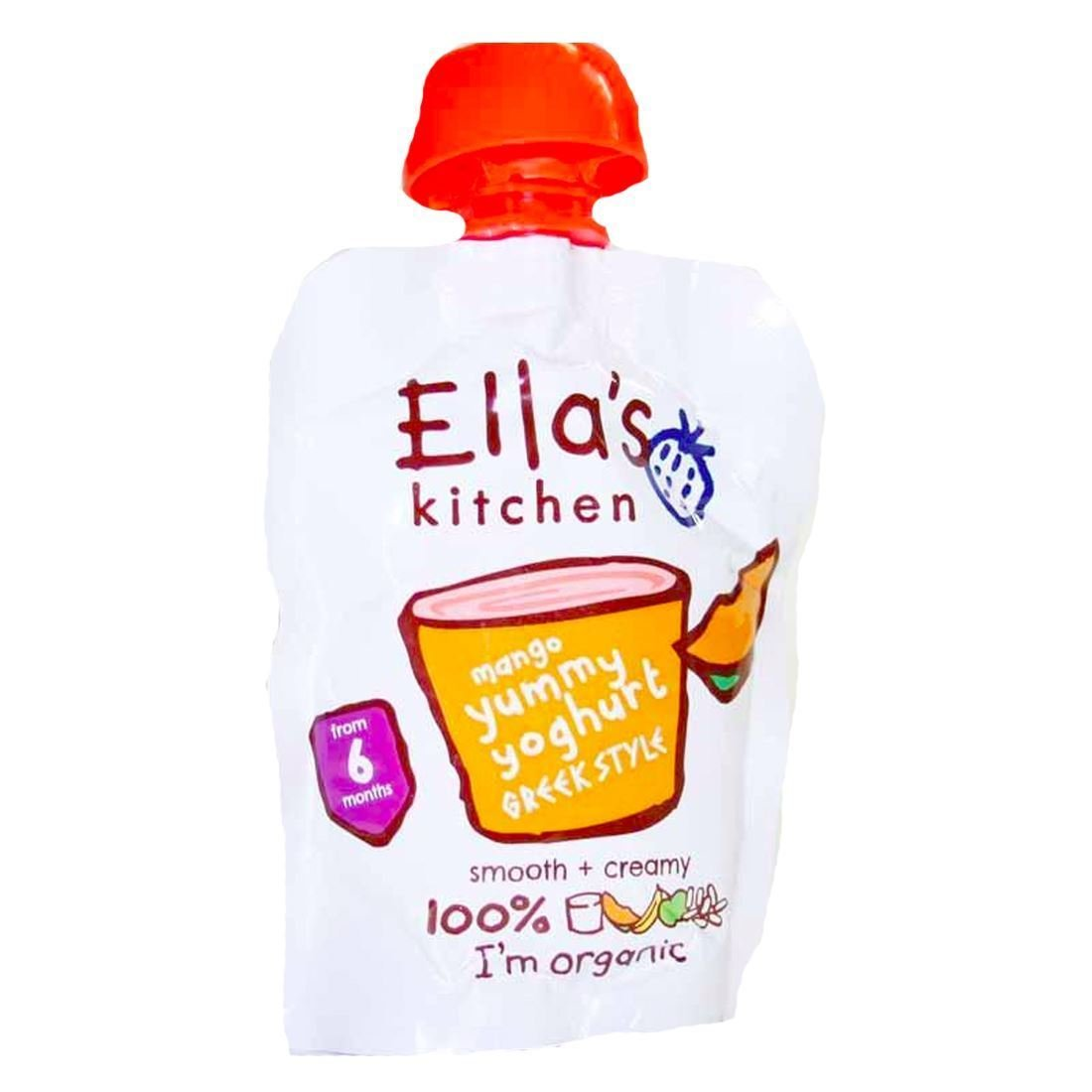 Ella's Kitchen Organic Greek Yoghurt & Mangoes?90g by Ella's Kitchen Ella' s Kitchen