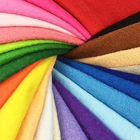 28 Hojas de Fieltro No Tejido Tela Fieltro Suave de Acrílico para Manualidades Patchwork Costura DIY Craft Trabajo 20*30cm Espesor 1,4mm Colores ...