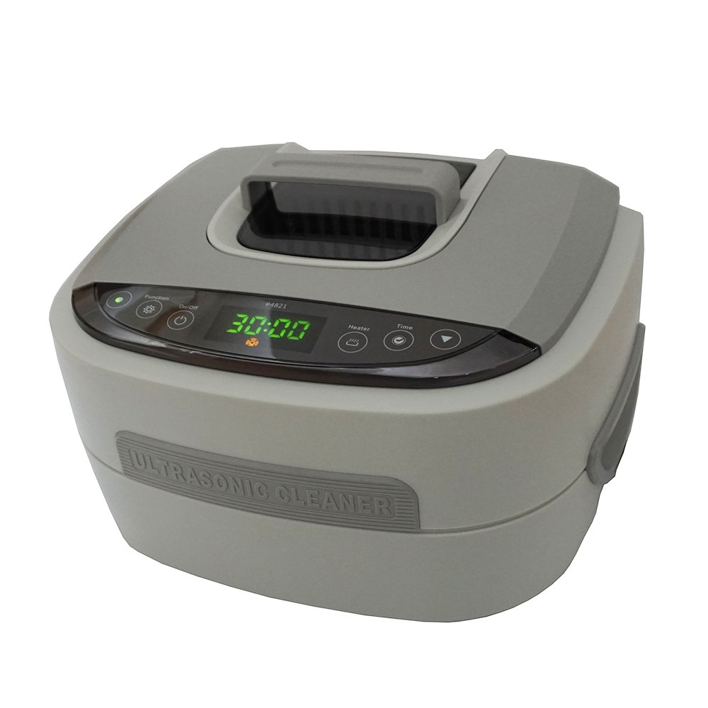 iSonic P4821-BSB Commercial Ultrasonic Cleaner, Stainless Steel Wire Mesh Basket, 110V, 2.6 quart/2.5 L, Beige