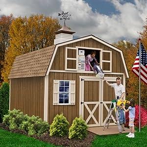 Best Epic Trends 61jVyz61%2BfL._SS300_ Best Barns Millcreek 12' X 20' Wood Shed Kit