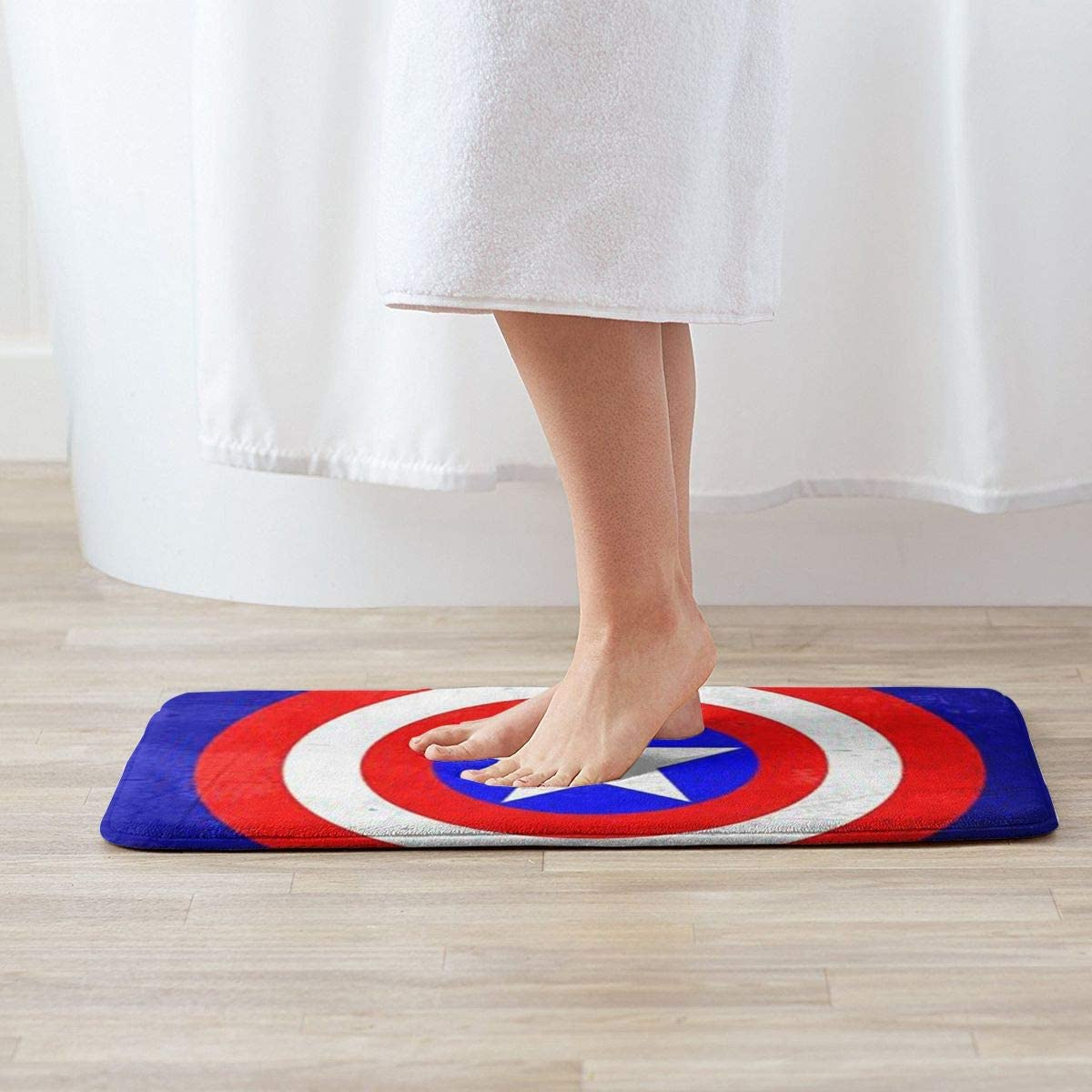 HHenry Welcome Door Mats Captain America 1 Indoor Outdoor Mats Entrance Rugs Rubber Non Slip Doormats15.7 X 23.5 Inch