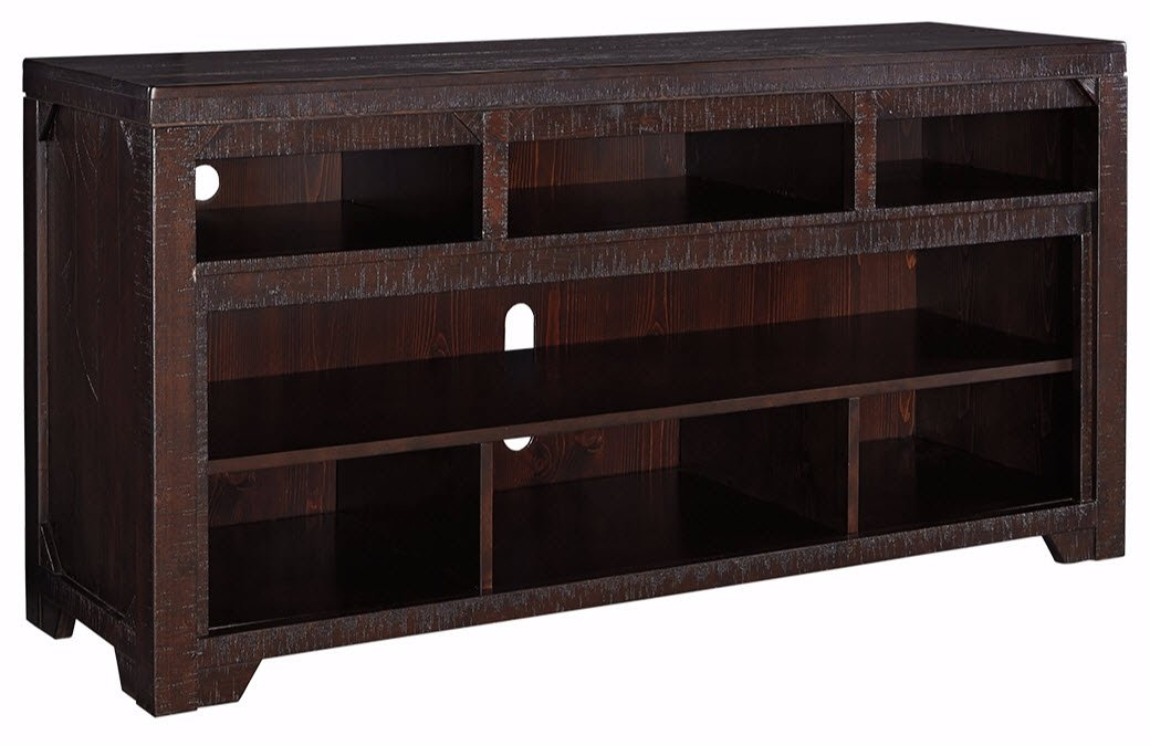Signature Design by Ashley W745-58 Rogness TV Stand with Open Media Storage, Dark Brown