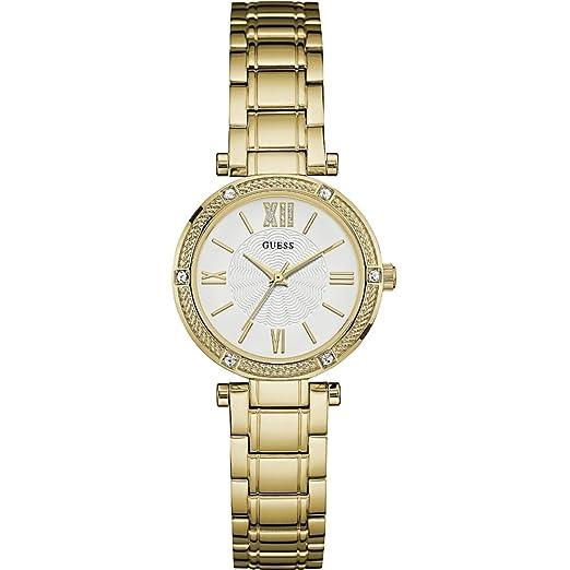 Guess Reloj analogico para Mujer de Cuarzo con Correa en Acero Inoxidable W0767L2: Amazon.es: Relojes