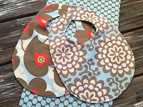 Bib, Burp Cloth, Bandana Bib Combo Gift Set Chenille Bib Burp Cloth