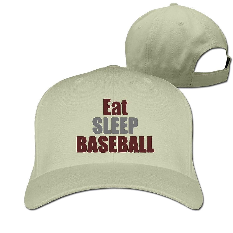 HNN Unisex Eat Sleep Baseball Peaked Baseball Caps Hats