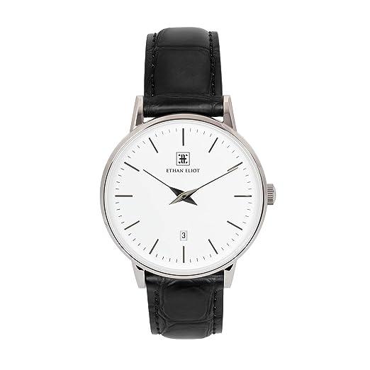 Amazon.com: Ethan Eliot Reloj clásico para hombre, reloj ...