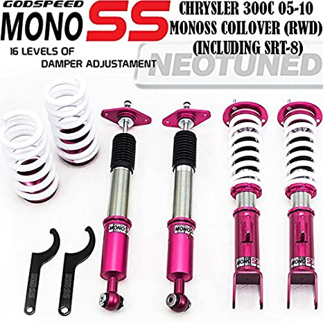 cciyu Coilover Suspension Shock Absorbers Height Adjustable Coilovers Lowering Kit Fit for 05-2010 for Chrysler 300//09-2010 for Dodge Challenger //06-2010 for Dodge Charger //05-08 for Dodge Magnum