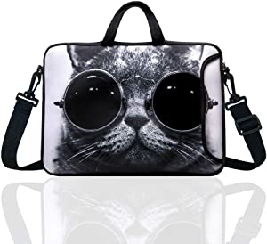 """10-Inch Laptop Shoulder Bag Sleeve Case with padded handle for 9.6"""" 9.7"""