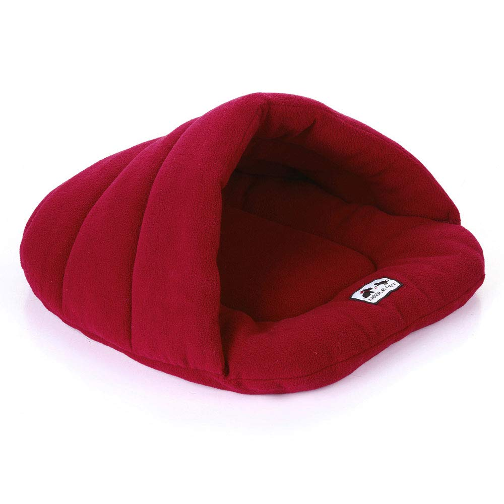 Red Large Red Large HN Warm Pet Sleeping Bag Pet Nest Kennel Cat Litter Rabbit Nest Large Medium And Small Pet Nest Pet House Nest,Red,L
