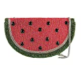 Mary Frances Slice Of Life Beaded Jeweled Watermelon Fruit Slice Handbag Shoulder Bag