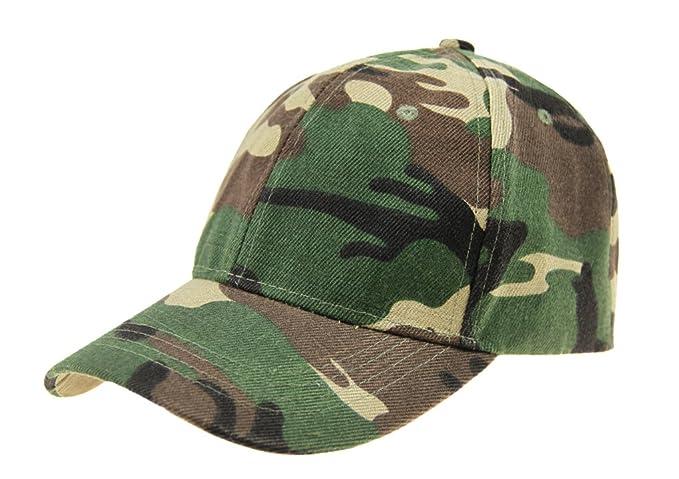 5f410056f57 Unisex Fashion Camo Adjustable Snapback Trucker Baseball Cap Sports Hat for  Women Men