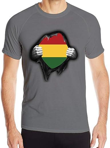 Camiseta para Hombre Rasta Flag Proud T Shirts Camiseta Deportiva ...