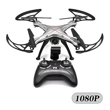 Rclhh Drone con Cámara 1080P HD, RC Quadcopter con 2.4Ghz,Batería ...