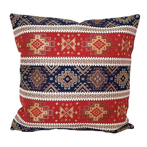 pillowerus Tapestry Fabric Kilim Pattern Red-Blue 18