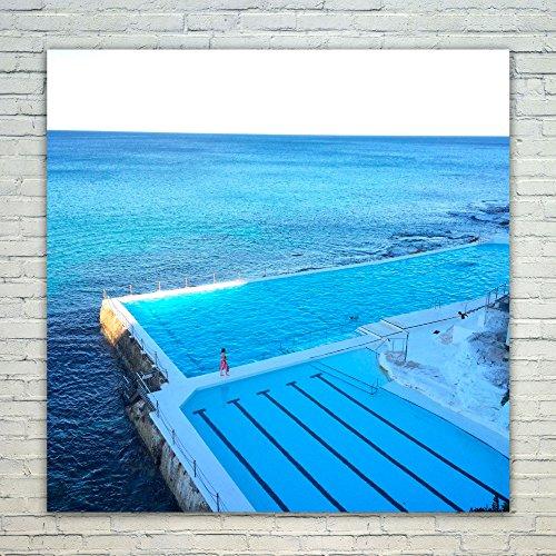 Westlake Art Poster Print Wall Art - Bondi Beach - Modern Picture Photography Home Decor Office Birthday Gift - Unframed - 20x20in