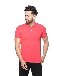 eCools Plain T Shirt for Men & Women | Basic T-Shirt | Half Sleeve Basic T-Shirt | Round Neck T Shirt | Polo T Shirt | 100% Cotton T-Shirt | Short Sleeve T Shirt (Gajri, Large)