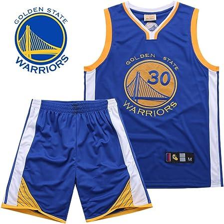 HS-XP Curry # 30 Traje de Baloncesto Chaleco para Hombre Top de Secado rápido Traje de Secado rápido Ropa de Entrenamiento de Manga Corta Camisa de Entrenamiento de disipación de Calor,Azul,L: Amazon.es:
