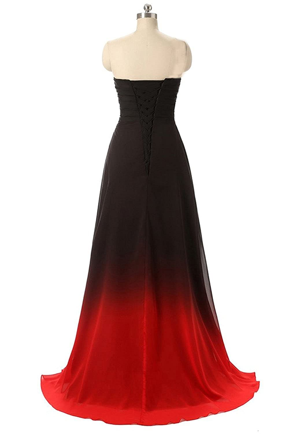 103cde26a5 Amazon.com  ZVOCY Gradient Prom Dress Formal Evening Gowns Beaded Ombre  Chiffon Long Prom Party Dresses  Clothing