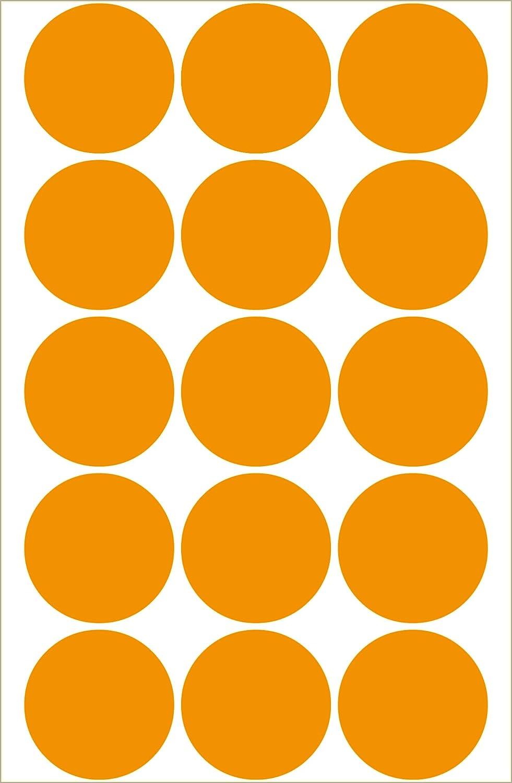 Herma Multi-purpose labels /ø 32mm luminous orange 360 pcs.