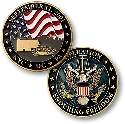 September 11 NYC DC PA Operation Enduring Freedom Challenge Coin ()