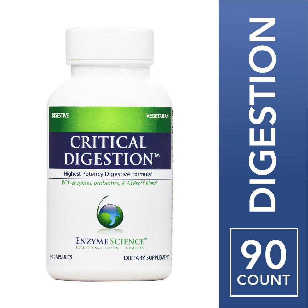 Enzyme Science - Critical Digestion, Highest Potency Digestive Enzyme Formula, 90 Vegetarian Capsules (FFP)