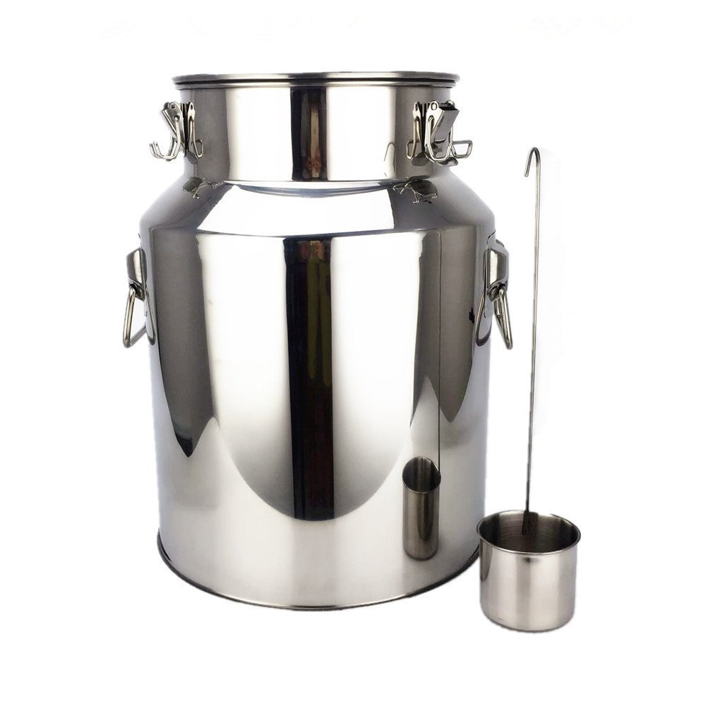 Stainless Steel Barrel, Dream_light 14L Stainless Steel Fermenter Home Brew Wine Beer Drum, Storage Oil Rice Water Keg