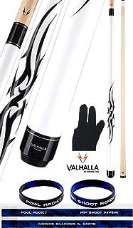product image for Valhalla VA203 by Viking 2 Piece Pool Cue Stick White Tribal Monochromatic HD Graphic Transfers 18-21 oz. Plus Billiard Glove & Bracelet