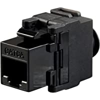 MonopriceCat6A RJ-45 Toolless Snap Back 180-Degree Keystone, Black 115963