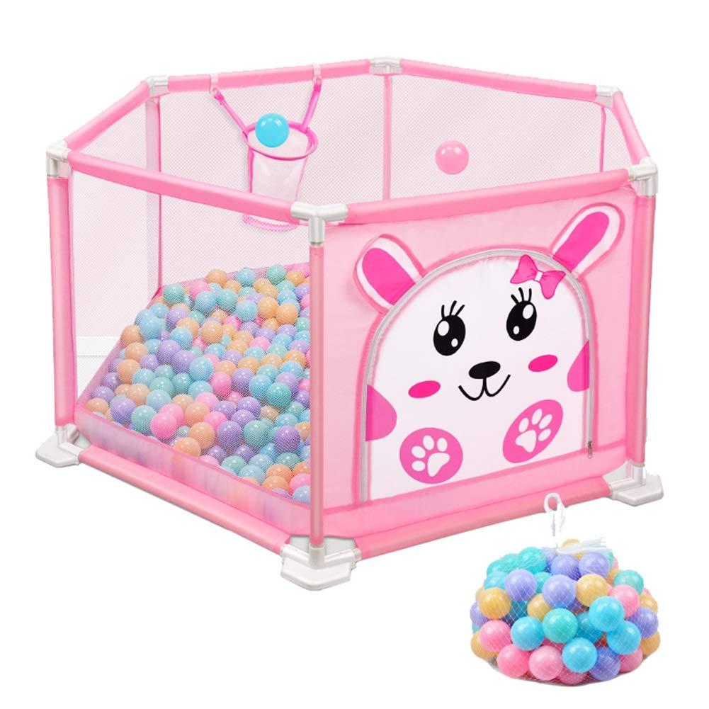 多様な ベビーサークル, 6パネル屋内ベビープレイヤード、105ボール サイズ、アンチロールオーバープラスチックプレイペン、幼児用ゲート付き (色 : Pink Pink, サイズ さいず さいず : 110 × 50cm) 110 × 50cm Pink B07JNJFC9K, neneno -ネネノ インテリア-:30d01d43 --- a0267596.xsph.ru