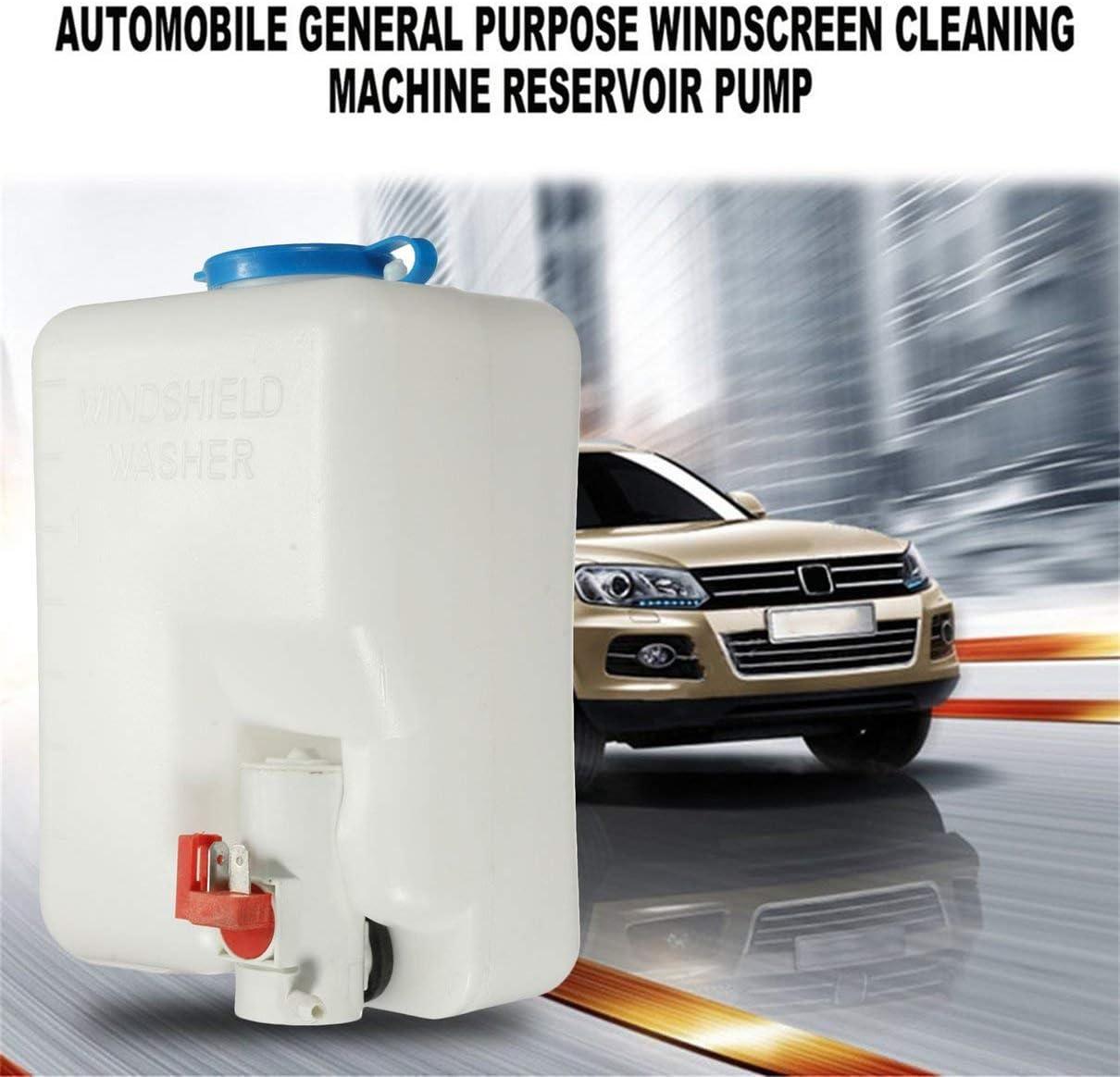 Kit de bouteille de pompe de r/éservoir de lave-glace de voiture classique universel de 12V Togames-FR outil propre et facile /à utiliser interrupteur /à jet blanc