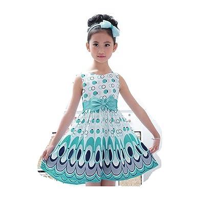 Transer Girls Princess Dress, Baby Floral Dress 0-5 Years Kids ...