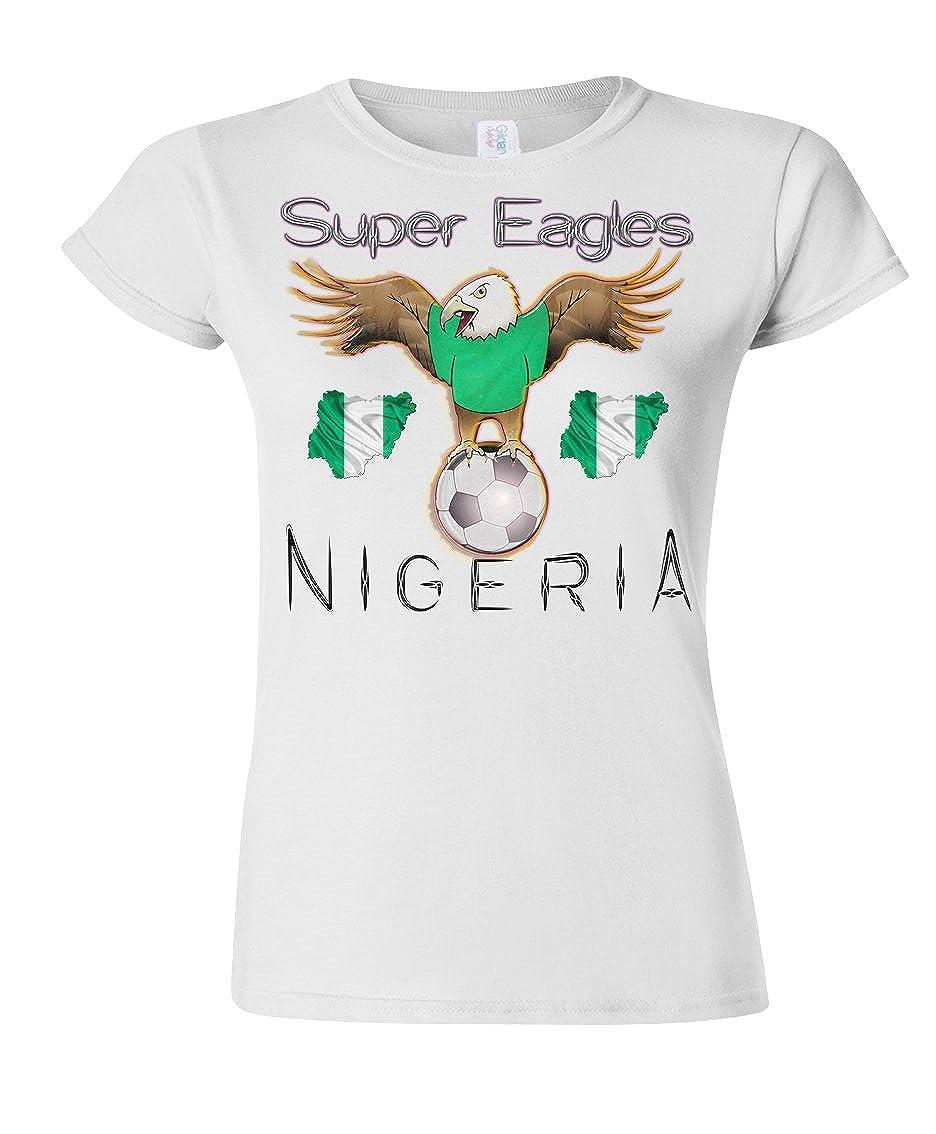 Nigeria Football Mascot Ladies Camiseta Para Mujer World Cup T ...