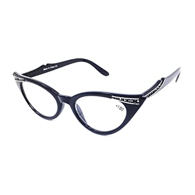 e0dc97cfe66 Dawnzen® Women Retro Style Reading Glasses Clear Lens Vintage Eyewear  Spectacles Frame (+1.00)  Amazon.co.uk  Clothing