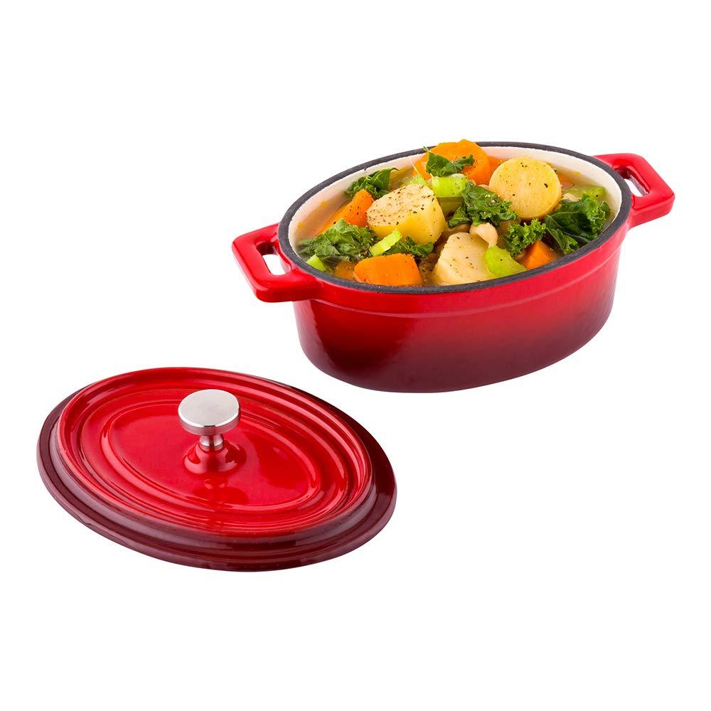 Restaurantware RWT0584R Mini Casserole Dish, 9 oz, Red