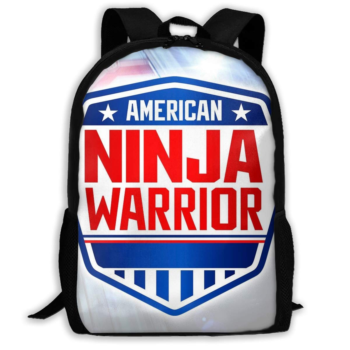 Amazon.com: PcldLoeE-00 Backpack American Ninja Warrior Logo ...
