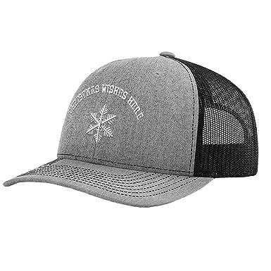 6efd258c Amazon.com: Custom Richardson Trucker Hat Snow Flakes Christmas B ...