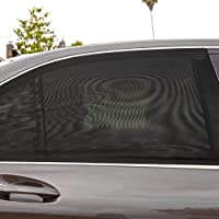2Pcs Universal Car Side Window Sun Shade Breathable Mesh Sun Shield UV Rays/Parasol de Coche para Ventanas Laterales…