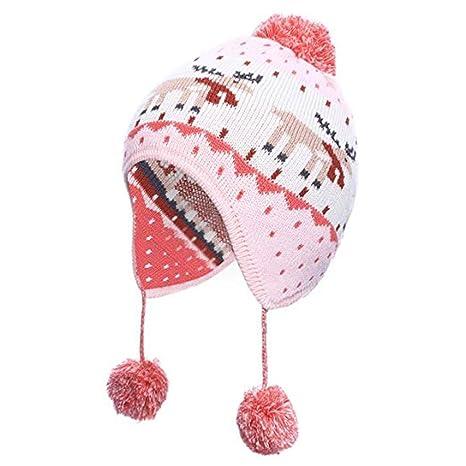 Stillshine Bonnet Fille Chapeau d hiver bébé,Bonnet d hiver pour Enfants  Bonnet b4a89b591fd