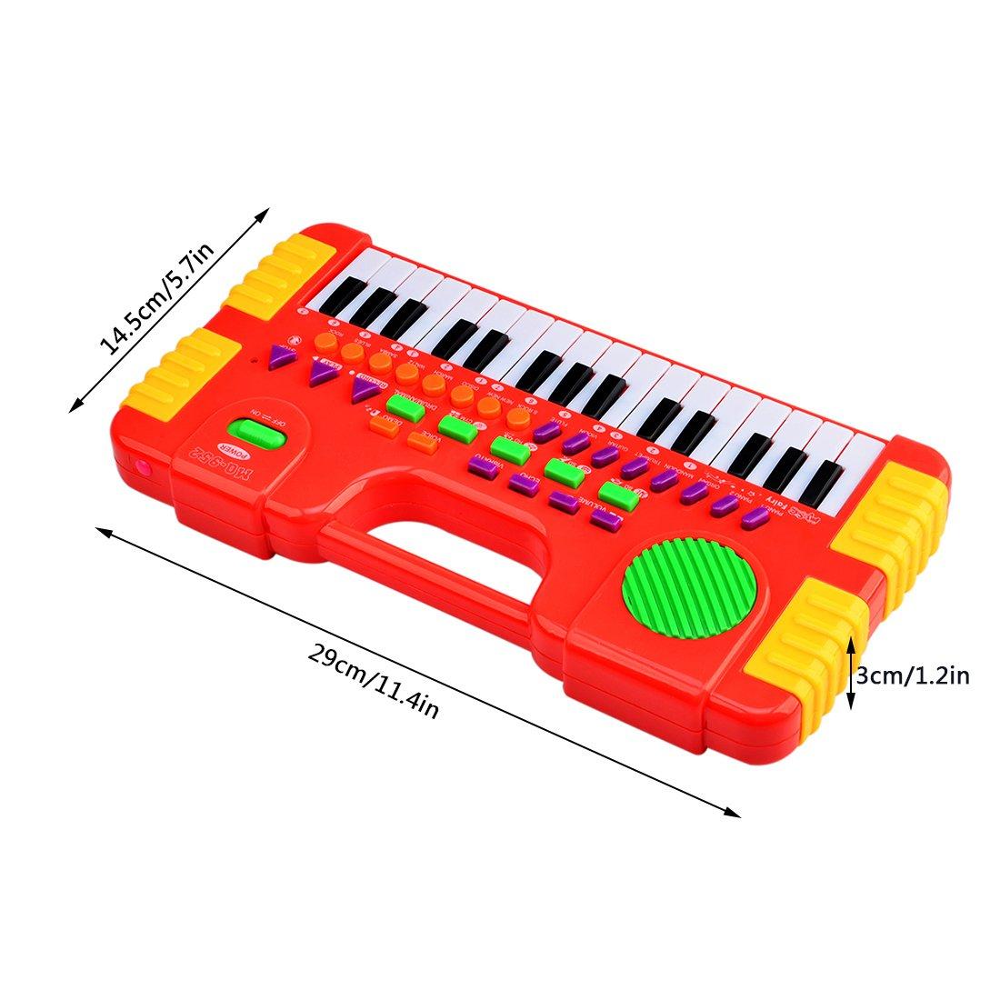 Rojo Foxom 31 Teclas Electr/ónico Teclados Piano Juguete Musical Regalo Para Ni/ños Beb/és Principiantes Piano para Ni/ños