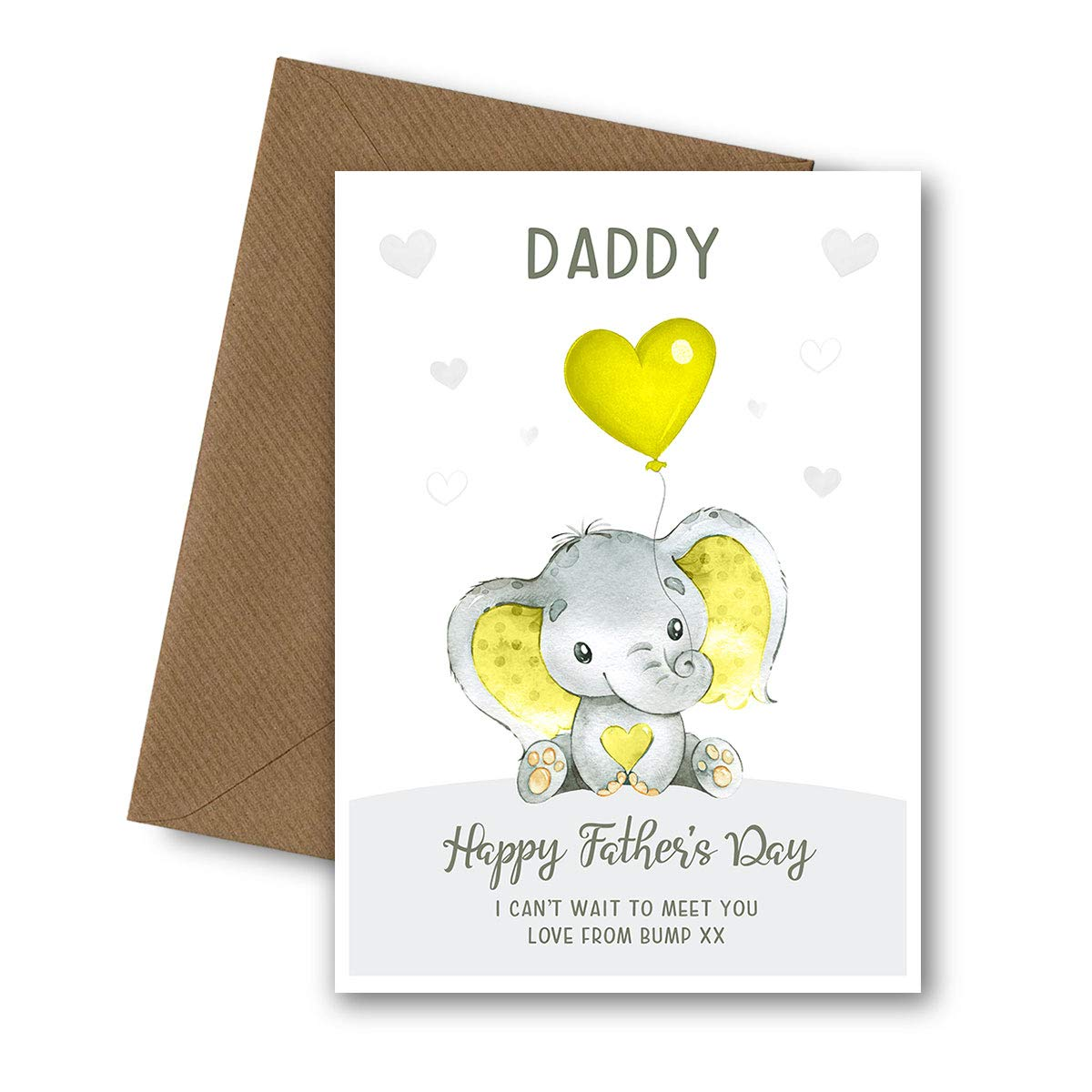 Bespoke Personalised Handmade Happy First Christmas Daddy Card with Envelope Dad