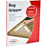 Rug Gripper by Chuck Daddy – 10 pieces Non Slip Rug Grippers for Hardwood Floors and Anti Curling all Carpet Corners