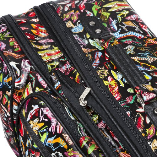 Sydney Love 2 Piece Rolling Luggage Set, Stepping Out Print ,One Size by Sydney Love (Image #1)