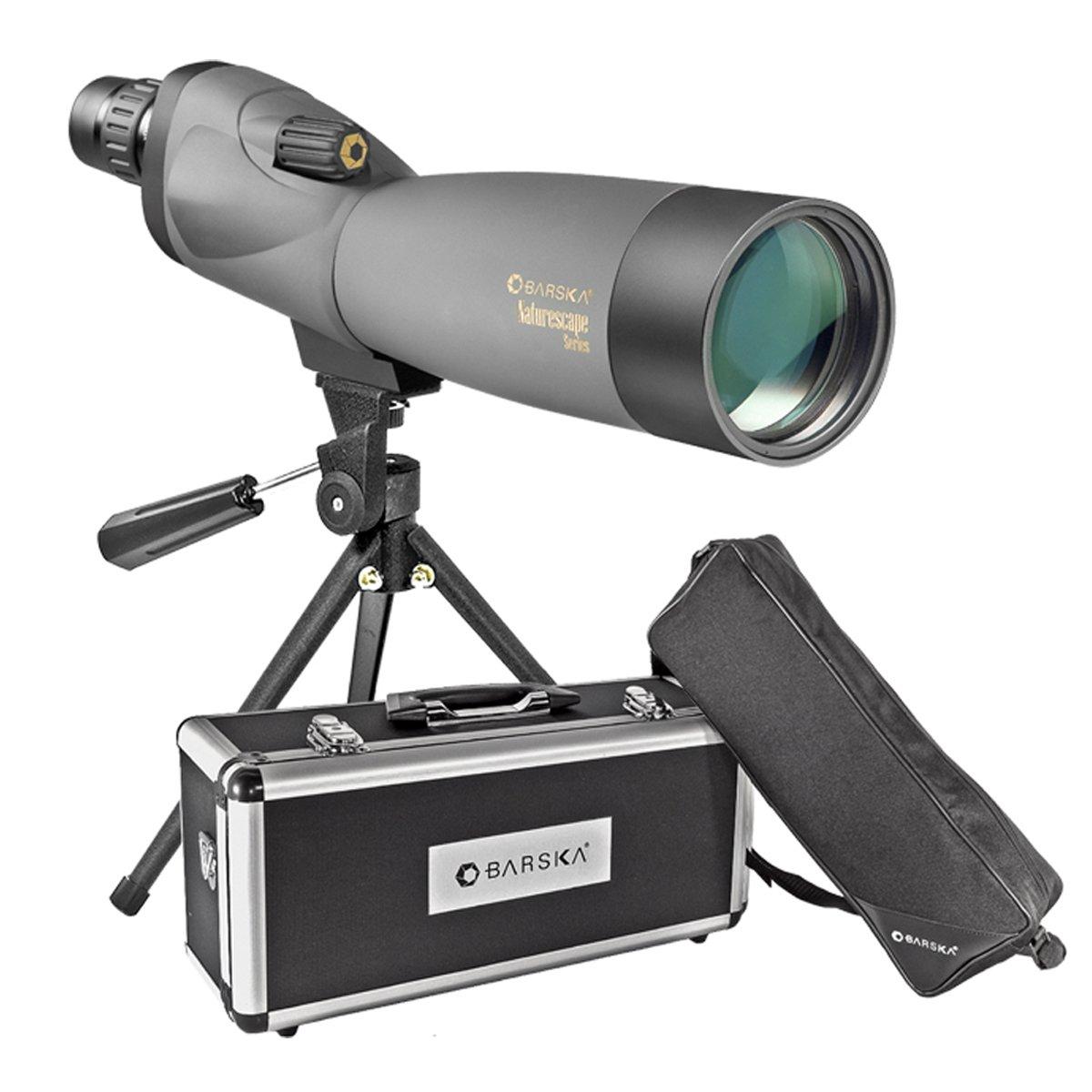 BARSKA Naturescape 20-60x60 Waterproof Spotting Scope w/ Tripod, Soft Carry Case & Premium Hard Case by BARSKA