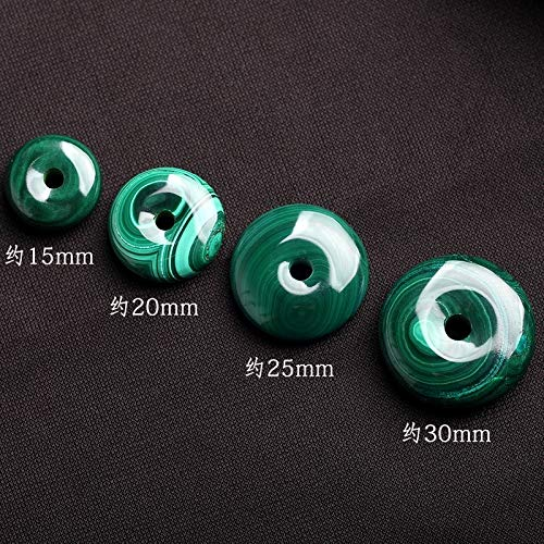 Natural Malachite Necklace Pendant Peace Buckle Pendants Donut Pendants Bracelets Bracelet Bangle xingyue Bodhi Accessories (an Outer Diameter of About - Pendant 30mm Donut