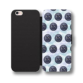 finest selection b284f 54406 MOON FACES EMOJI FLIP PHONE Case WALLET COVER for: Amazon.co.uk ...